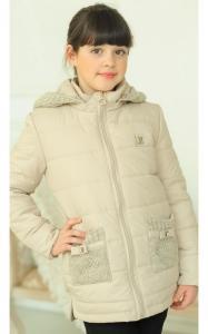 Фото Верхняя одежда (весна-осень) 31-06 Куртка АЛЕКСА демисезонная д/дев (беж)