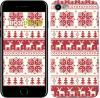 Чехол на iPhone 7 новый год и красные олени