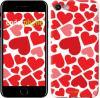 Чехол на iPhone 7 Красные сердца