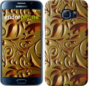 Фото Чехлы для Samsung Galaxy S6 G920 Чехол на Samsung Galaxy S6 G920 Золотой металлический узор