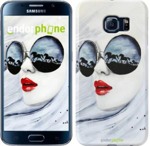 Фото Чехлы для Samsung Galaxy S6 G920 Чехол на Samsung Galaxy S6 G920 Девушка акварелью