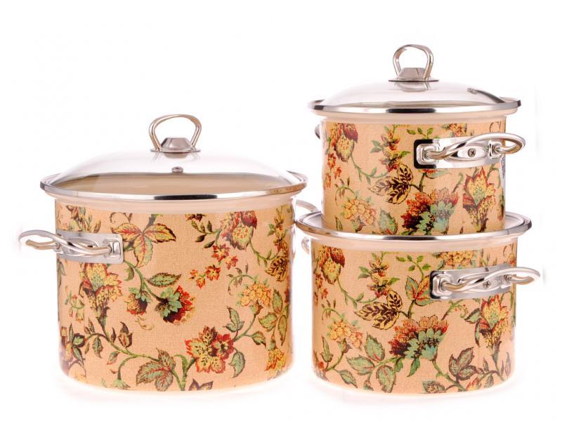 Фото Наборы посуды, Наборы эмалированной посуды Набор № 1500 Версаль (EPOS)