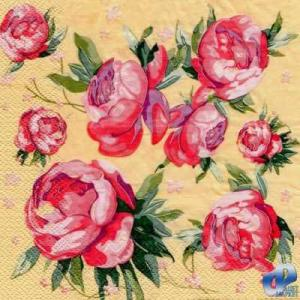 Фото Салфетки для декупажа, Цветы Салфетка Пионы СД-049