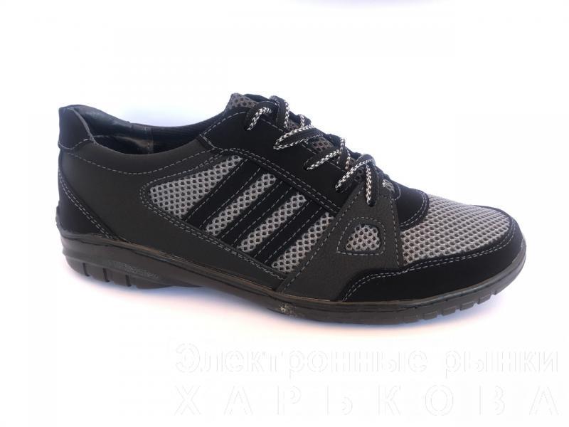 Туфли спортивный на шнурках мужские серый PILOT - 23