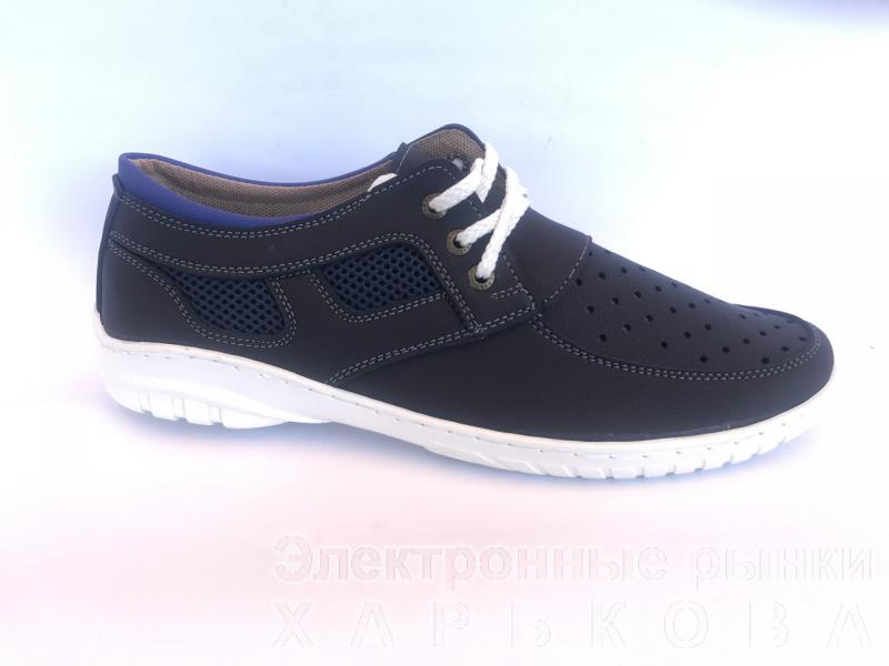 Туфли спортивный на шнурках мужские синий PILOT - 32