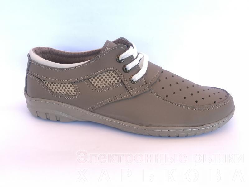 Туфли спортивный на шнурках мужские бежевый PILOT - 32