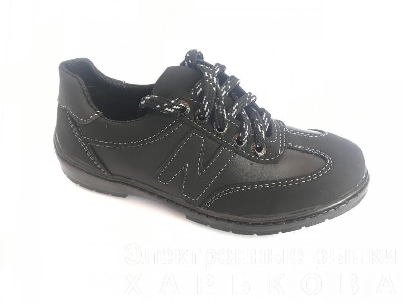 Туфли спортивные подростковый чёрный ANKOR кр-6(сер)