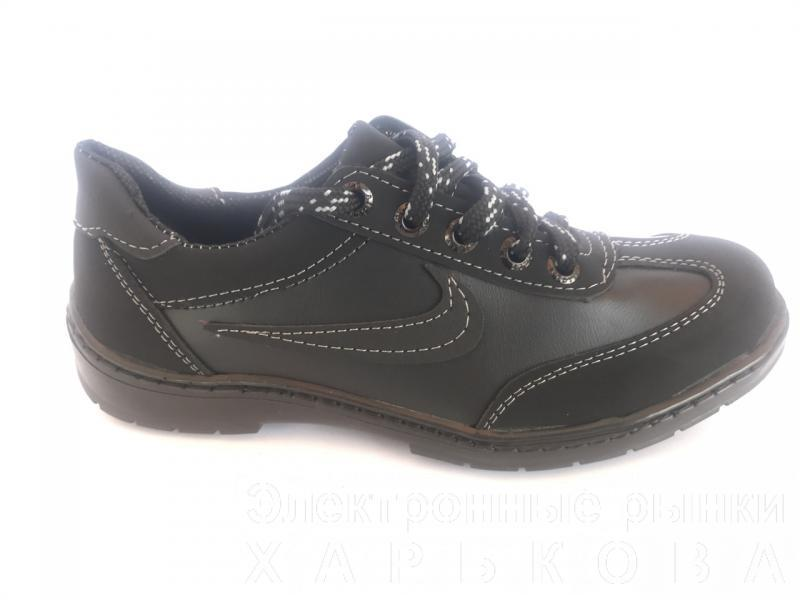 Туфли спортивные подростковый чёрный ANKOR кр-7