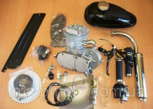 Фото Мото двигатели в сборе для мототехники Веломотор F80 на велосипед 80 сс без стартера