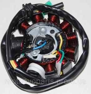 Фото Запчасти для китайских скутеров 125/150/170куб Генератор  11 катушек YABEN 125-150