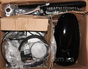 Фото Мото двигатели в сборе для мототехники Веломотор 80 сс Дырчик чёрный с ручным стартером