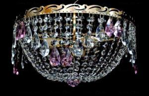 Фото Люстры потолочные Хрустальная люстра цветная Анжелика-Волна