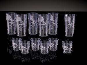 Фото Стеклоизделия, Наборы подарочные Набор со стаканами рисунок Изящная ветвь дымка