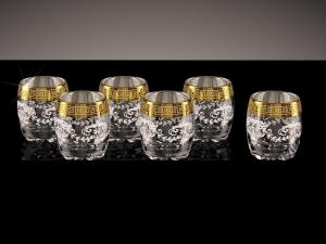 Фото Стеклоизделия, Фужеры, бокалы, рюмки, бренди, мартини Стопки Сильвана рисунок Барокко