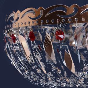 Фото Потолочные люстры Хрустальная люстра Анжелика Оптикон цветная