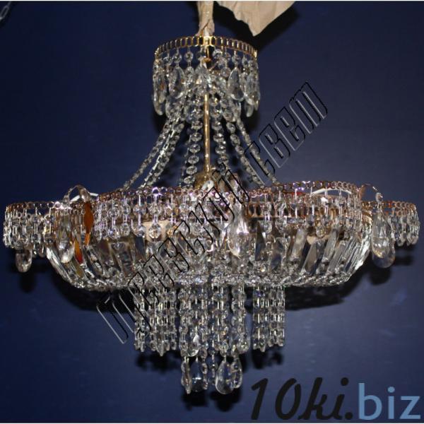 Хрустальная люстра Ромашка с подвесом 6 ламп