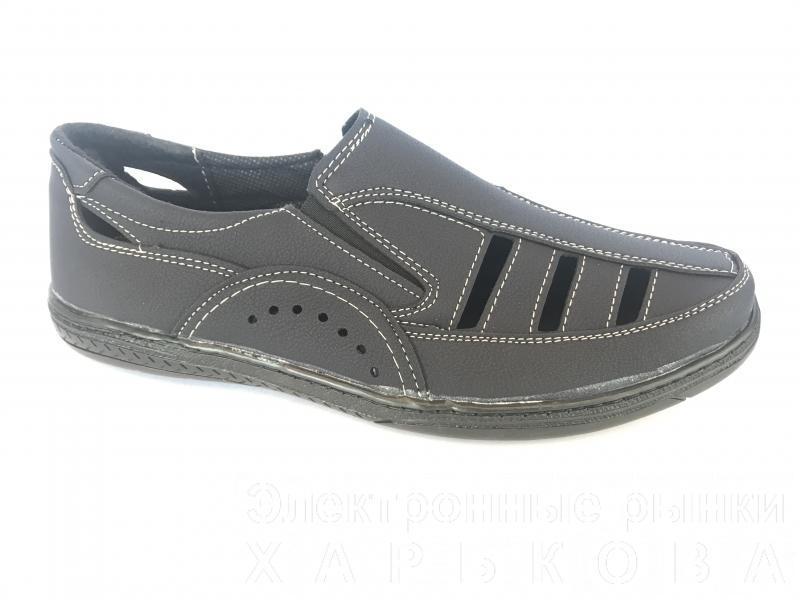 Туфли синий мужские на резинках Comford M-11