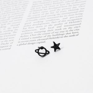 Фото  Серьги -Сатурн и звезда-