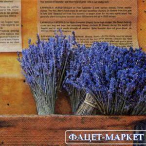 Фото Салфетки для декупажа, Цветы Салфетка Букет лаванды