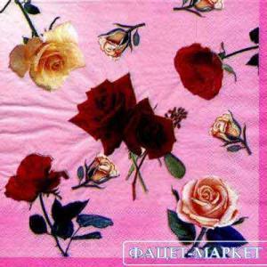 Фото Салфетки для декупажа, Цветы Салфетка Розочки СД-001