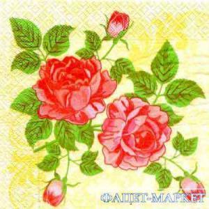 Фото Салфетки для декупажа, Цветы Салфетка Розы СД-020