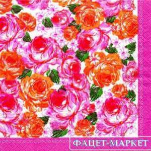 Фото Салфетки для декупажа, Цветы Салфетка Розы-2 СД-027