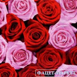 Фото Салфетки для декупажа, Цветы Салфетка Розы-3 СД-031