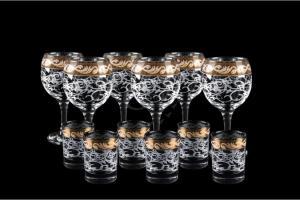 Фото Наборы из 12-13 изделий, Декорированные Набор из 12 предметов. Фужер и стопка. Вдохновение