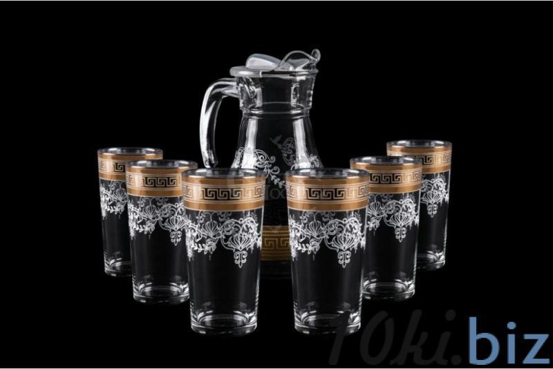 Набор: Кувшин и 6 стаканов. Барокко