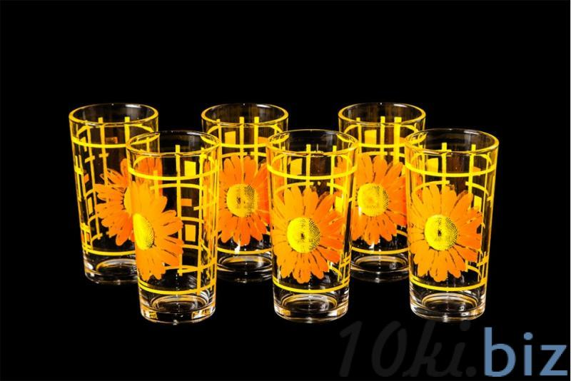 """Набор стаканов """"Ода"""". Оранжевые герберы"""