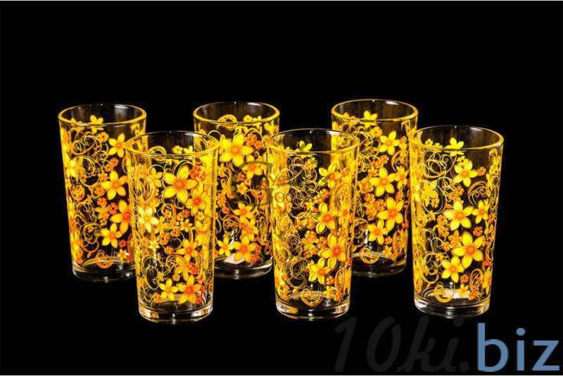 """Набор стаканов """"Ода"""". Оранжевый вьюнок"""