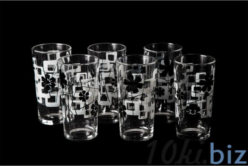 """Набор стаканов """"Ода"""". Черная абстракция"""