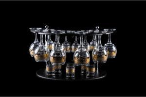 Фото Барные стойки Барная стойка из 18 предметов: Фужер, рюмка, стопка. Медальон