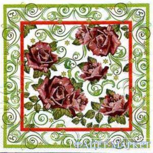 Фото Салфетки для декупажа, Цветы Салфетка Розы-4 СД-054
