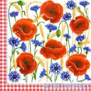 Фото Салфетки для декупажа, Цветы Салфетка Маки 2 СД-097