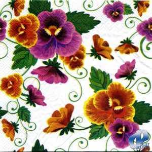 Фото Салфетки для декупажа, Цветы Салфетка Анютины глазки СД-113