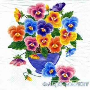 Фото Салфетки для декупажа, Цветы Салфетка Фиалки СД-134