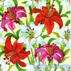 Фото Салфетки для декупажа, Цветы Салфетка Лилии СД-136