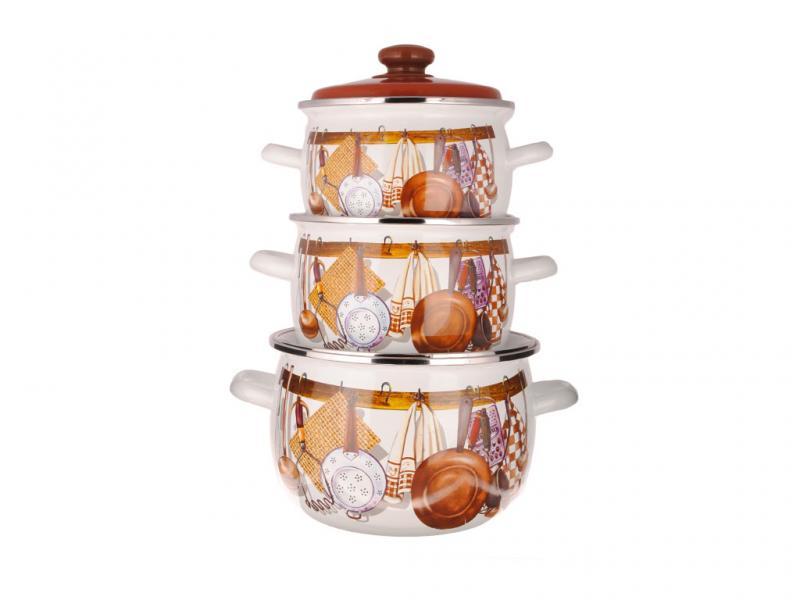 Фото Наборы посуды, Наборы эмалированной посуды Набор № 946 Хозяюшка (EPOS)