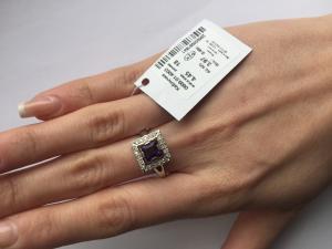 Фото Серебро со вставками золота, Кольца кольцо 0809