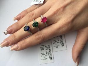 Фото Серебро со вставками золота, Кольца кольцо 0812