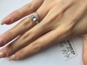 Фото Серебро со вставками золота, Кольца кольцо 0819