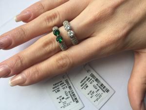Фото Серебро со вставками золота, Кольца кольцо 0820
