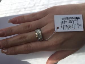 Фото Серебро со вставками золота, Кольца кольцо 0832