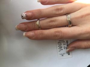 Фото Серебро со вставками золота, Кольца кольцо 0856