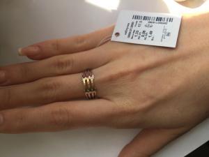 Фото Серебро со вставками золота, Кольца кольцо 0858