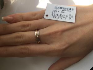 Фото Серебро со вставками золота, Кольца кольцо 0859