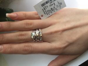 Фото Серебро со вставками золота, Кольца кольцо 0872