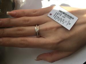 Фото Серебро со вставками золота, Кольца кольцо 0876
