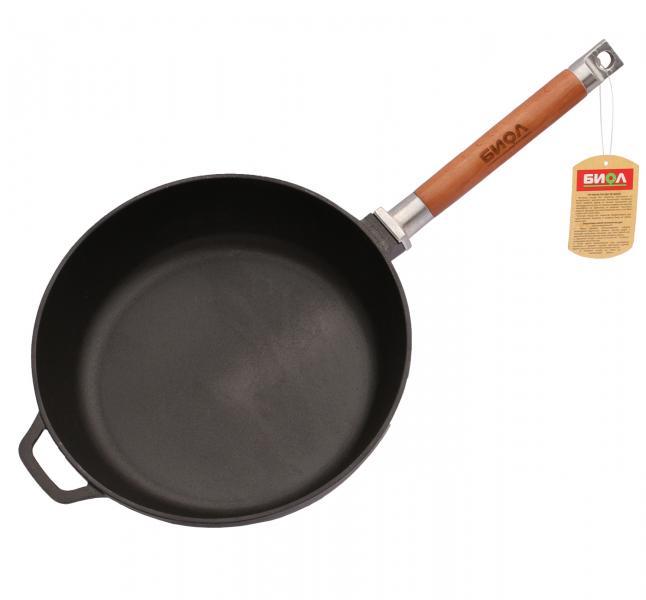 Фото Сковородки, сотейники, жаровни, WOK, Сковороды чугунные Сковорода чугунная Биол 24 см глубокая